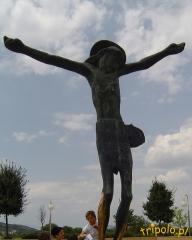 Medjugorje - wizerunek Chrystusa przy kościele