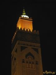 Minaret Meczetu Hasana II w Casablance w Maroku