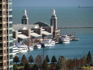 Widok na jezioro Michigan i nabrzeże