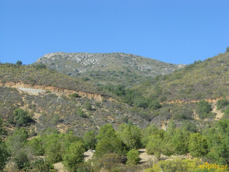 Krajobraz po drodze z Santiago de Chile do Valparaiso