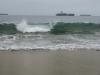 Fale przy plaży w Vina del Mar