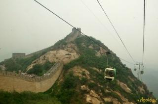 Wjazd kolejką linową na Wielki Mur Chiński w Badaling