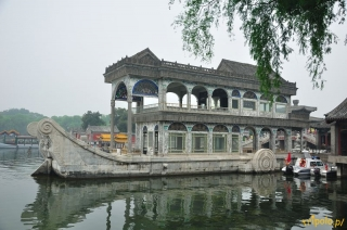 Pekin - Pałac Letni, Marmurowa Łódź