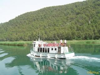 Statek z miejscowości Skradin do wodospadów Krka