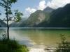 Niemcy, Bawaria - jezioro Königsee widziane  z półwyspu St. Bartolomä