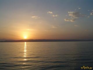 Egipt, Hurghada - zachód słońca nad Morzem Czerwonym