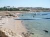 Sharm el Sheik - mała plaża przy hotelu (jedna z wielu)