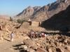 Droga z Góry Synaj do klasztoru św. Katarzyny na Synaju w Egipcie