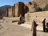 Handel pamiątkami pod murami klasztoru św. Katarzyny na Synaju w Egipcie