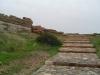 Schody prowadzące na szczyt przylądka Sounion