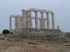 Ruiny świątyni Posejdona na przylądku Sounion