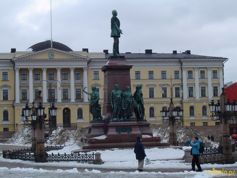 Helsinki - centrum - Plac Senacki - pomnik cara Aleksandra II