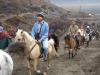 Wjazd na koniu na wulkan Bromo w Indonezji