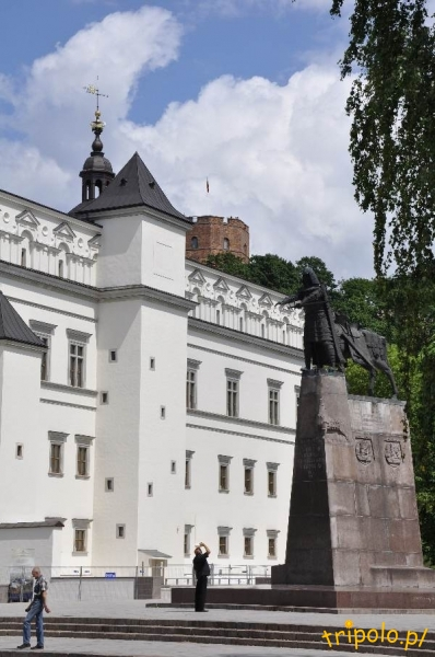 Litwa, Wilno - Dolny zamek na placu katedralnym