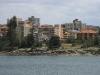 Panorama Manly widziana z pokładu promu