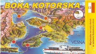 Przykładowy plan rejsu po Boce Kotorskiej