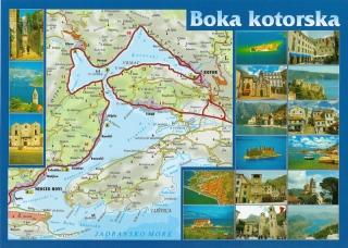 Boka Kotorska na mapie