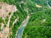 Czarnogóra, rzeka Tara widziana z mostu