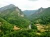 Czarnogóra, widok na Durmitor z mostu na Tarze