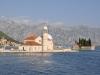 Boka Kotorska - sztuczna wyspa z barokowym kościołem Matki Boskiej na Skale
