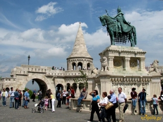 Budapeszt - Baszta Rybacka i pomnik króla Stefana I