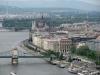 Panorama Budapesztu ze wzgórza Gellerta