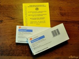 Książeczka szczepień i tabletki malaronu to niezbędnik w Nigerii