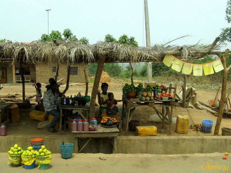 Nigeria - stragan przy drodze