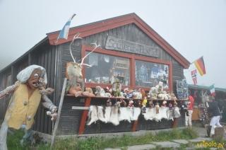 Norwegia, punkt z pamiątkami przy Trollstigen