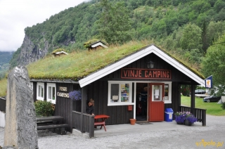 Norwegia, kamping w Geiranger