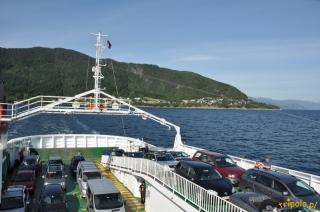 Norwegia, prom dla podróżnych i samochodów
