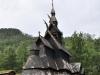 Norwegia, jeden z licznych drewnianych kościołów jakie budowali Wikingowie