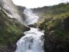 Norwegia, jeden z licznych wodospadów