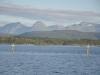 Norwegia, krajobrazy po drodze - jeden z fiordów