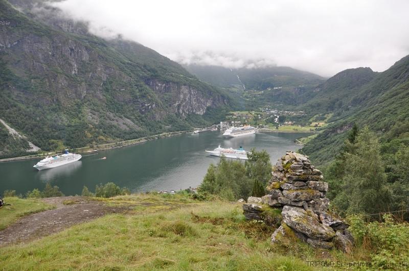Geirangerfjord-widziany ze ścieżki do Skagefla