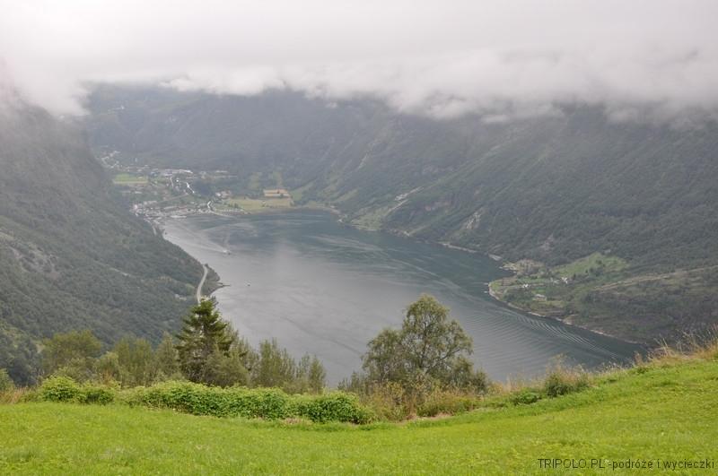 Geirangerfjord widziany z Drogi Orłów