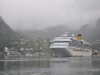 Geirangerfjord - prom pasażerski w porcie