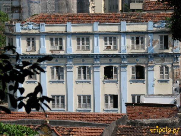 Widok ze wzgórza klasztoru Sao Bento na Rio