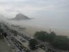 Plaża Copacabana - poranna mgła
