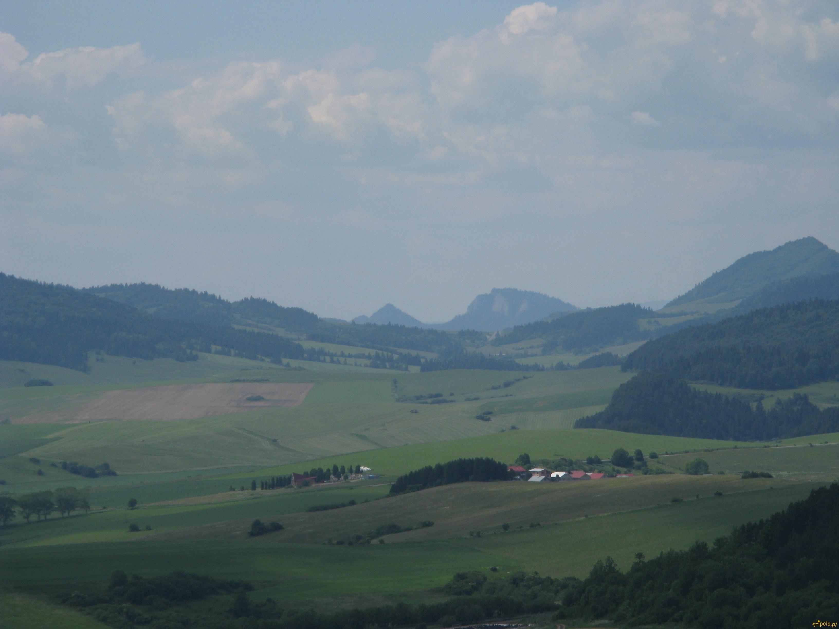 Widok z zamku na góry