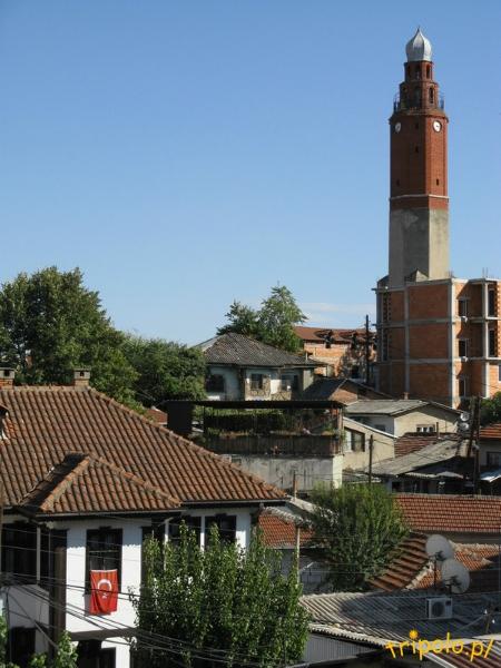 Macedonia, Skopje - Meczet sułtana Murata - wieża zegarowa