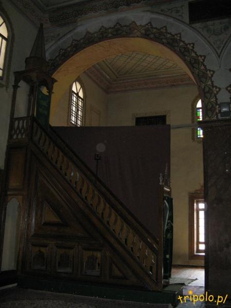 Macedonia, Skopje - Meczet sułtana Murata - wnętrze