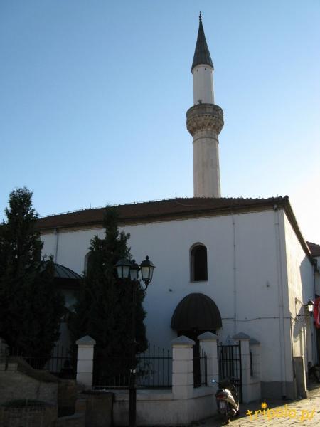 Macedonia, Skopje - Minaret jednego z meczetów na Starym Mieście