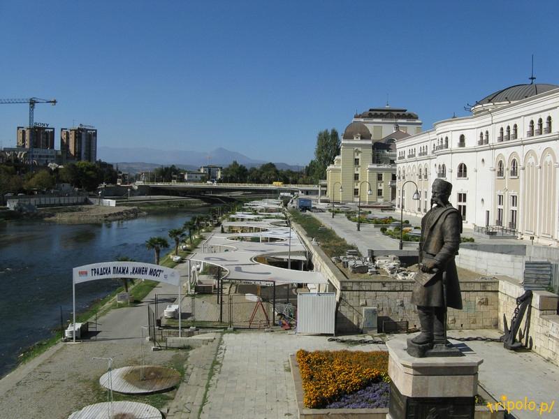 Macedonia, Skopje - widok z Kamiennego Mostu
