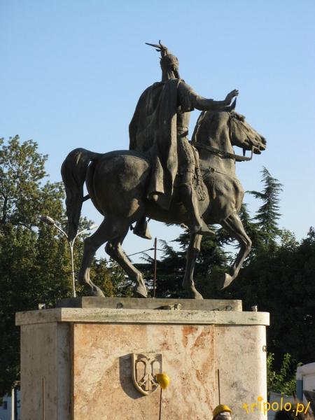 Pomnik Skanderbega w Skopje