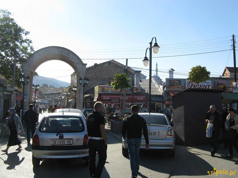 Brama wejściowa do Starego Miasta w Skopje od strony bazaru