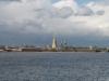 Panorama twierdzy Pietropawłowskiej od strony Newy