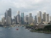 Panorama Sydney z mostu Harbour Bridge