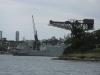 Sydney - zatoka i dźwigi portowe