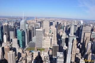 USA, Nowy Jork – Empire State Building - widok na północ